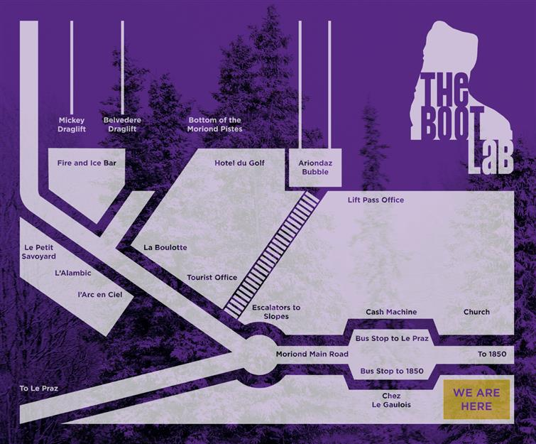 Courchevel Boot Fitting Shop Map