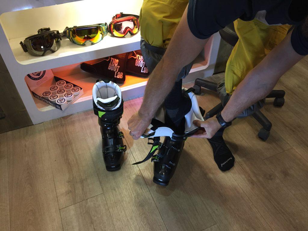 Entering a ski boot